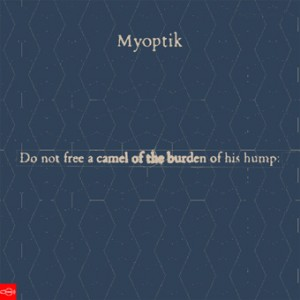 CF035 - Myoptik - Do No Free A Camel Of The Burden Of His Hump EP